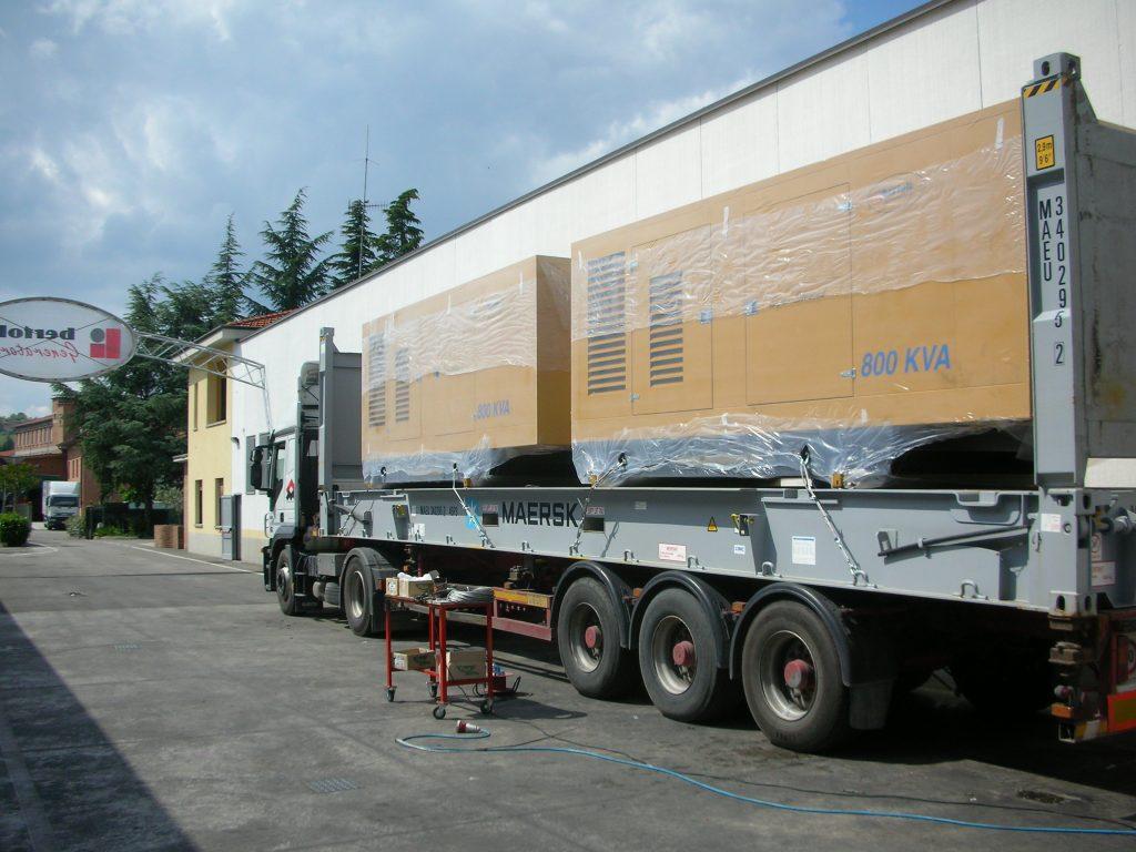 Carico su camion generatore